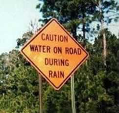 Caution Water
